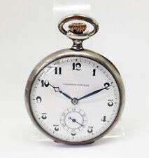 Reloj de Bolsillo Vintage TAVANNES Watch Co. Mecánico. 43mm ESFERA BLANCA. pequeño. seg.