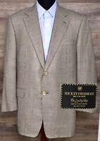 Hickey Freeman Bespoke Men's 2 BTN Wool Glen Plaid Blazer Sport Coat Jacket 43R