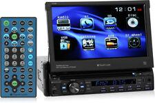 "Planet Audio P9759B Single Din Bluetooth DVD Car Stereo w/ 7"" Flip-Up Screen"