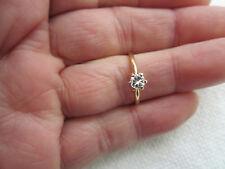 1/4 Carat Brilliant Natural Diamond 14K Yellow Gold Engagement Ring Sz 6-1/2