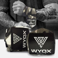 Weight Lifting Wraps Gym Fitness Training WYOX Wrist Support Workout Camo Gray