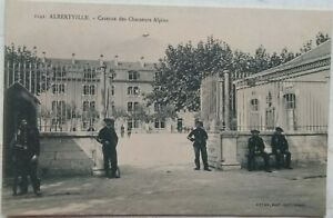 ALBERTVILLE Chasseur Alpine Mountain Troops Barracks FRANCE Patriotic PC c1910s
