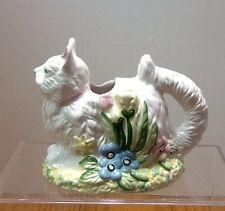 Vintage Figurative Cat Creamer Spring Flowers Kitten Pastel Coffee Tea Rare