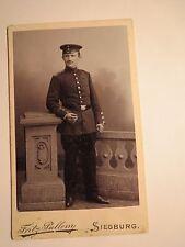 Siegburg - stehender Soldat in Uniform - Regiment Nr. 70 ? / CDV