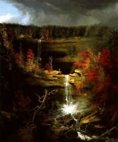 190484 FALLS OF KAATERSKILL NATURE AMERICAN LANDSCAPE Wall POSTER Print Plakat