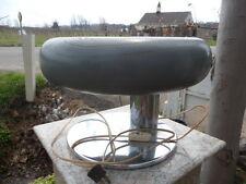 Vintage 1980's Gray Industrial Design Modern Lamp Light Chrome Solid Wood Milano