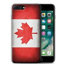STUFF4 Gel/TPU Case for Apple iPhone 7 Plus/Flags/Canada/Canadian