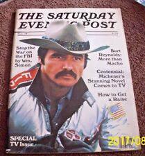 Special TV Issue Saturday Evening Post Magazine Burt Reynolds on cover Centennia