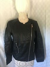 Calvin Klein Jacket, Quilted Faux-leather Z Black Small Womens Lot Z NWT