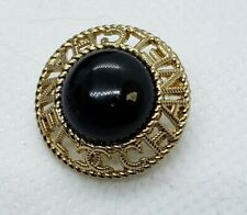 1 Chanel gold and black stamped beautiful button, Combined shipping available