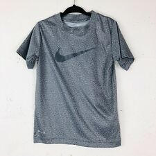 Nike Dri Fit Youth Size 3-4 Years Grey Athletic T Shirt