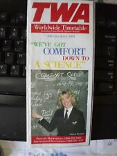 TWA Trans World Airlines Worldwide Timetable 7/1994