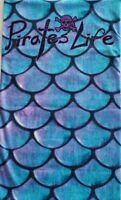 PIRATE'S LIFE UV BUFF FISHSCALE purple Neck Protection Mask Boating Fishing Sun