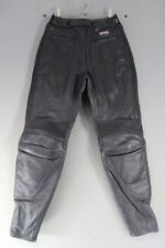 AKITO BLACK LEATHER BIKER TROUSERS + CE ARMOUR SIZE 12 - WAIST 26/INSIDE LEG 29""