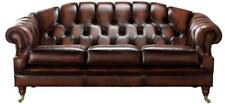 Chesterfield Victoria 3 Seater Antique Rust Leather Sofa Settee