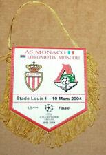 Wimpel fanion pennant AS Monaco Lokomotiv Moscou champions league 1/8°final 2004