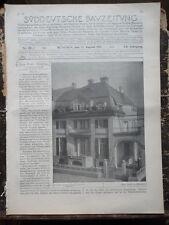 1910 München Haus Brakl Lessingstraße Turmbau in München