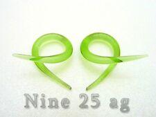 Plugs Body Jewelry Spirals Pyrex Glass 12G Green Twists