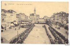 Ak, Charleroi, place de sud. le Jeu de Balle, 1918