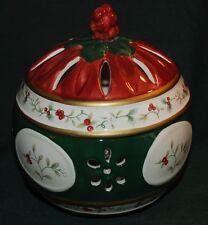 Pfaltzgraff WINTERBERRY COVERED POTPOURRI/Tea Light JAR