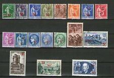 SERIE COMPLETE TIMBRES 476-493 OBLITERES -  TIMBRES DE 1932-38 SURCHARGES