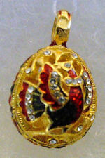 Silver Russian Handmade Faberge EGG PENDANT # PD-11-066 CUTOUT DESIGN