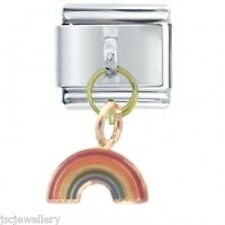 RAINBOW Dangle - Daisy Charm Italian Charms Fits Classic Size Bracelet Modular