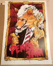 PEARL JAM poster SYDNEY 2006 MINT not ames klausen eddie vedder Rhis Cooper