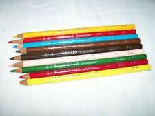 Lot of 9 Vintage Used Venus Paradise Color Pencils 1 3 7 10 11 14 15 19 24