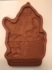 Longaberger Pottery Christmas Cookie Stone Wear Santa Claus Collectible 1992