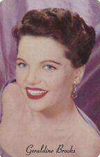 """GERALDINE BROOKS- hollywood  1953  MOTHERS COOKIES """" movie  stars """"  card/SCARCE"""