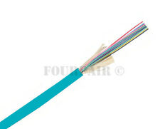 Indoor/Outdoor 6-Strand Multimode OM3 Fiber Optic Cable - Custom Cuts Per 1ft