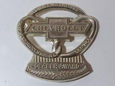 Orig Chevrolet Dealer Award Emblem Owner Trophy Plaque Camaro Corvette Chevelle