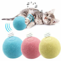 Interactive Cat Toys Smart Touch Sound Ball Simulation Squeaker Pet Training Toy
