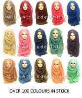 New Ladies Womens Plain Viscose/Rayon Large Maxi Scarf Hijab Shawl Sarong Wrap