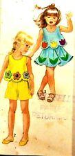 OOP Vintage Trendy Simplicity 7302 Top Skirt Pants Shorts Child Sewing Pattern