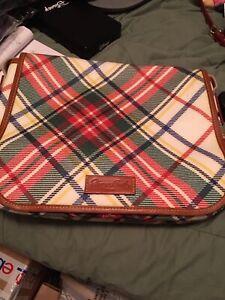 Dooney And Bourke Large Plaid Messanger Bag EUC