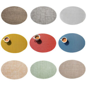 Oval Placemat Table Mat Coaster Tableware Pads Non-Slip Heat Insulation Mats