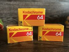EXPIRED LOT OF 3 ROLLS KODACHROME 64 KR 135-24 COLOR SLIDE FILM New Kodak 35mm