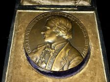 1884 French Medal to Honor U.J.J.Le-Verrier of the Academy of Sciences BOX N123