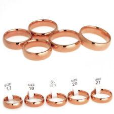 Edelstahl Ring Bandring rosegold rot vergoldet breiter Freundschaftsring Damen 6