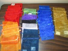 38 Sheer Pouch Bags Various Colors