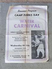 Original 1940s WW2 Camps Parks Shoemaker Ca  Souvenir Water Carnival Program.