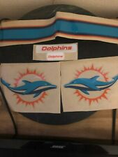 New Miami Dolphins Full Size Football Helmet Decals 20 Mil