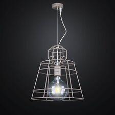 lampadario a sospensione 1 luce in ferro industriale retrò Ø30 colore tortora