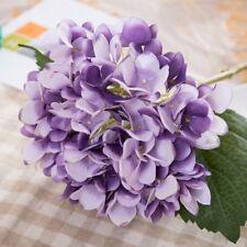 1Pc Hydrangea Silk Artificial Flower Fake Bunch Bouquet Wedding Home Table Decor