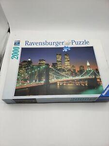 1995 Ravensburger New York Brooklyn Bridge Manhattan World Trade Center Jigsaw