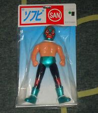 Marusan - Mil Mascaras - Sofubi Toy [Green version] SAN Lucha Libre Tiger Mask