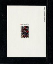 France 1987 Red Cross Stained Glass Scott B539-40 Set of 2 Deluxe Proofs