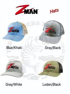 Z-Man Embroidered Trucker Style Structured Hats ZMan - Choose Color
